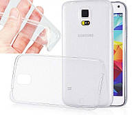 Силикон ультратонкий (0,33мм) Samsung G900 (S5) (Clear)