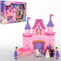 Замок SG-2965  принцессы,муз,свет,фигурки,карета с лошад,диван,на бат-ке,в кор-ке,45,5-32-7см