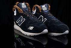 Зимние мужские кроссовки New Balance синие топ реплика