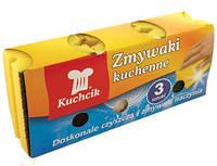 Губка для мытья посуды Kuchcik mix профилированная 3 шт
