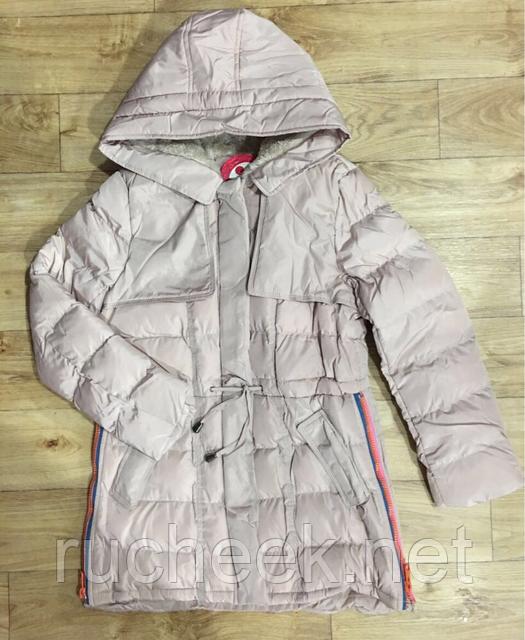 Куртка удлиненная для девочки 8 - 14 лет, ТМ Grace G50681, Венгрия пуд