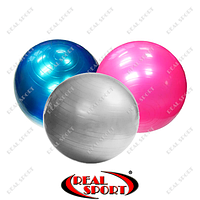 Мяч для фитнеса (фитбол) гладкий сатин 65см Zelart FI-1983-65-V (PVC, 800г, ABS технология)