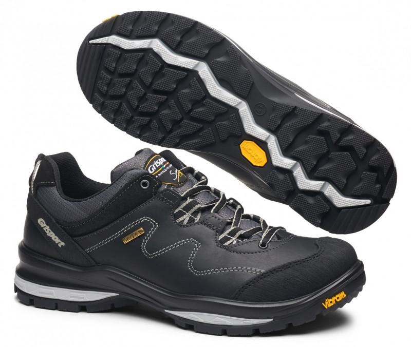 Ботинки низкие мужские черные Grisport для активных длительных передвижений