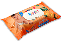 Детские влажные салфетки BRAVO с экстрактом календулы 72 шт.
