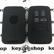 Чехол (черный, силиконовый) для смарт ключа Volvo (Вольво) 5 кнопок