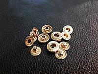 Кнопка альфа 12мм. Италия цвет золото 633/08k Без шляпки