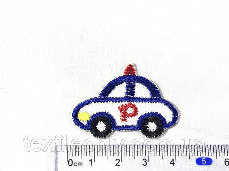 Нашивка полицейская машинка 40х30 мм, фото 2