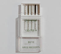 Иглы швейные Groz-Beckert Universal (80) Универсальные (5 шт), к бытовым швейным машинам