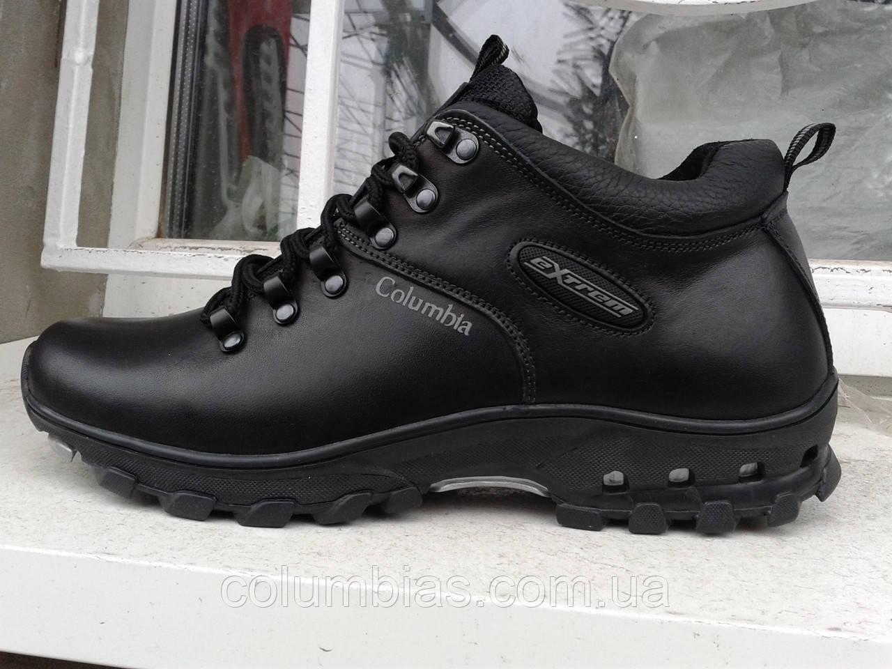 Мужские кожаные невысокие ботинки colambia