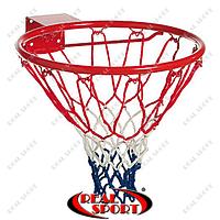 Кольцо баскетбольное C-7035 (d кольца-46,5см, d трубы-12мм, в ком.кольцо-металл, сетка-нейлон, болты)