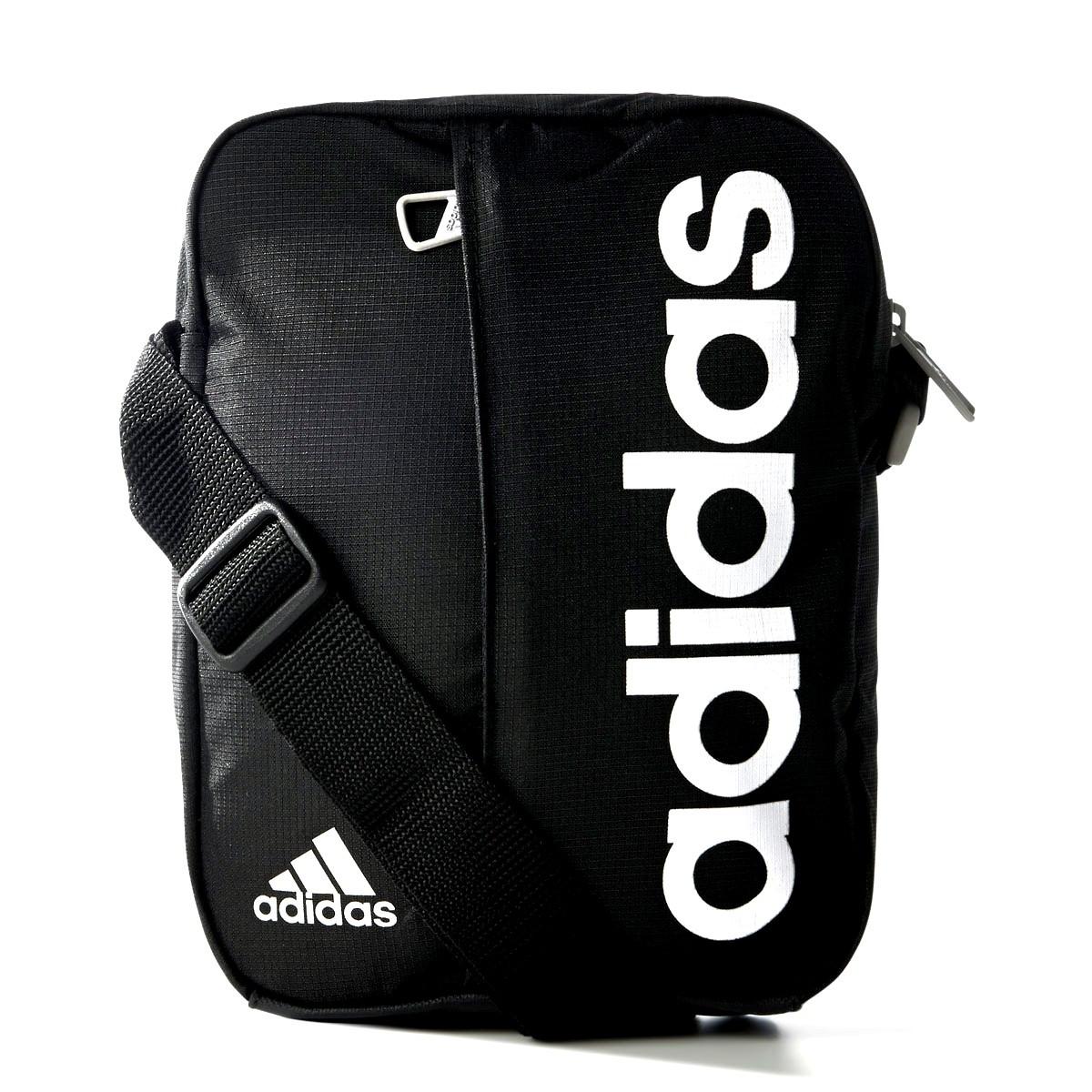 Органайзер спортивный adidas LIN PER M67762 (черный, передний карман с молнией, внутренний карман, адидас)