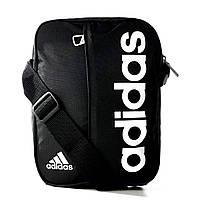 Органайзер спортивный adidas LIN PER M67762 (черный, передний карман с молнией, внутренний карман, адидас), фото 1