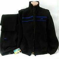 Костюм флисовый спортивный мужской черного цвета, Маратон, Турция, размеры 54, 56.