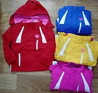 Детские куртки с флисовой кофтой для девочек рост 92-128, ТМ Glo-story GMA-4048, Венгрия