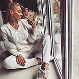Женский модный теплый вязаный костюм: свитер и штаны (4 цвета), фото 3