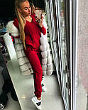 Женский модный теплый вязаный костюм: свитер и штаны (4 цвета), фото 4