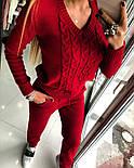 Женский модный теплый вязаный костюм: свитер и штаны (4 цвета), фото 6