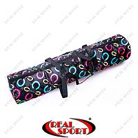 Чехол для коврика для йоги Yoga bag fashion FI-6011 (р-р 16x67 см, нейлон, черный)