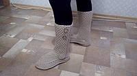 Женские вязаные носки ручная работа (образец)