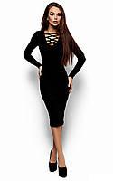 Стильне чорне вечірнє плаття-міді Shardone