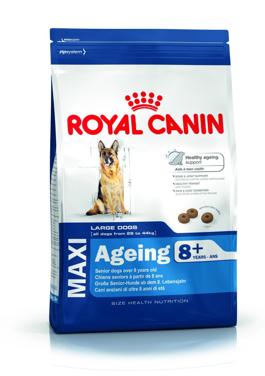 Для крупных пород собак старше 8 лет Royal Canin Maxi Ageing 8+, 15 кг, корм