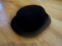 Шляпа цилиндр невысокий черный фетр
