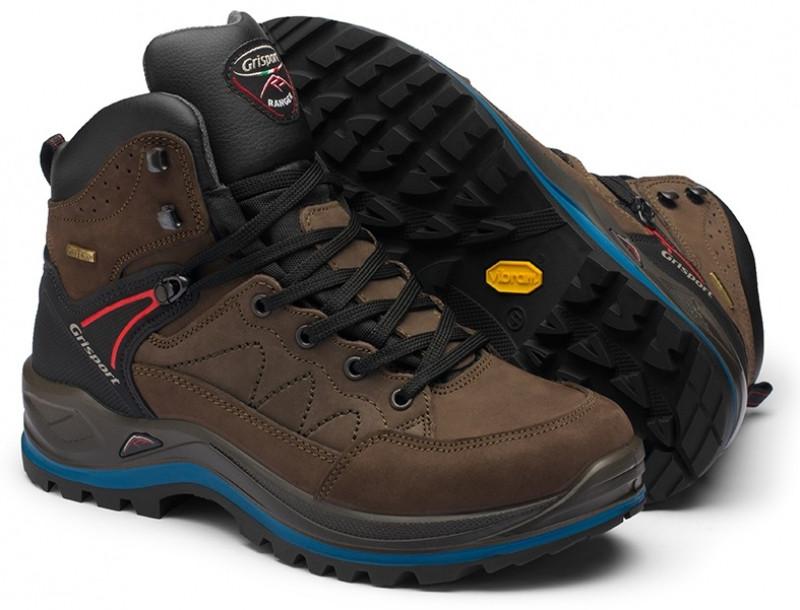 Коричневые зимние ботинки мужские Grisport прочные из плотной кожи