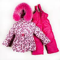"""Зимний комбинезон для девочек """"Розовый цветочек"""""""