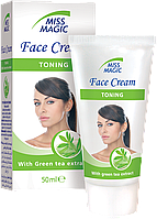 Крем для лица тонизирующий с экстрактом зеленого чая