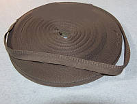 Тесьма коричневая, брючная, х/б (ширина 1,5 см)