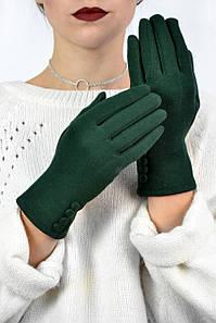 Женские трикотажные перчатки Баноффи зеленые размер 8