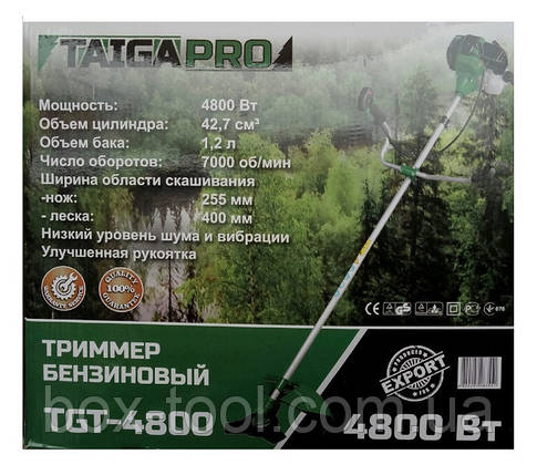 Бензокоса TaigaPro TGT- 4800 (5 ножей, 2 катушки), фото 2