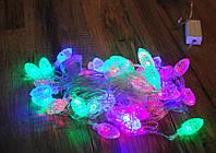 Гирлянда светодиодная шишки 40 LED мульти 5,8 метров