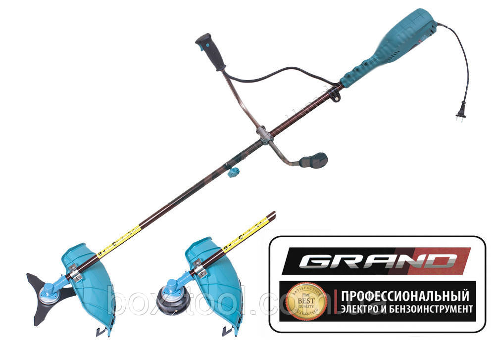 Электрокоса Grand КГ-2500 (нож 3Т+леска)