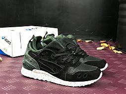 Зимние кроссовки Asics gel lyte black khaki. Живое фото! Топ качество (Реплика ААА+)