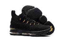 Баскетбольные кроссовки Nike Lebron 15 black-gold