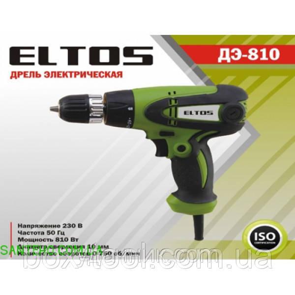 Шуруповерт сетевой Eltos ДЭ-810