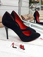 Лодочки туфли каблук  шпилька,с вырезом
