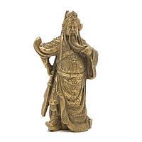 Статуэтка Гуань-гун с оружием 9,5х4х4 см. желтая (3016)