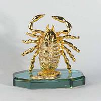 Статуэтка Скорпион высота 9 см золотистая (9042)