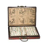 Набор для игры маджонг 28х20х4,5 см. красный (4728)