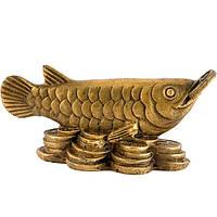 Статуэтка Арована с монеткой 4,5х10 см желтая (А4258)