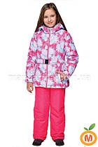 """Зимний термо комплект куртка и брюки на лямках для девочки """"Зимние гвоздики"""" ТМ """"Baby Line"""""""
