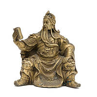 Статуэтка Гуань Ди с книгой 11,5х11,5х10 см. желтая (В0780)
