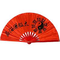 Веер для танца, для кунг-фу 34х64 см. красный (А4203)