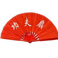Веер для танца, для кунг-фу 34х64 см. красный (А4202-а)