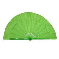 Веер ручной для танцев и спорта 40х75 см. зеленый (4954)