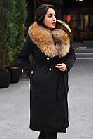 Пальто с натуральным мехом  ВХ8083 (бат)