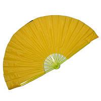 Веер ручной для танцев и спорта 40х75 см. желтый (4955)