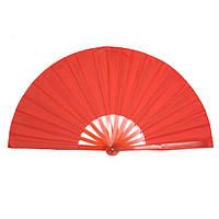 Веер ручной для танцев и спорта 40х75 см. красный (4952а)